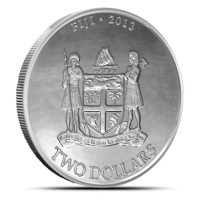 2013 1 oz Silver Fiji Taku Reverse