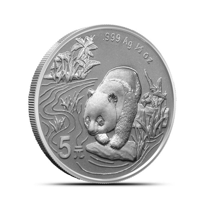 1997 1/2 oz Chinese Silver Panda Obverse