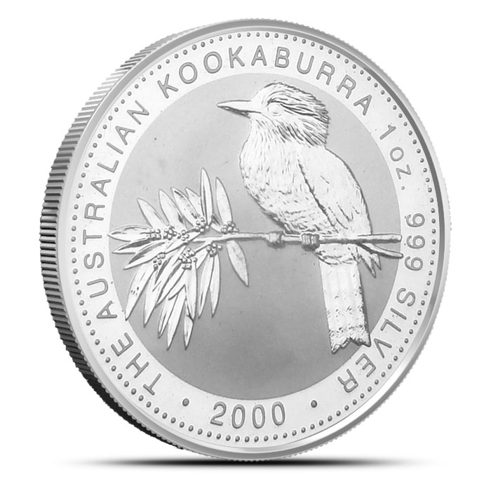 2000 Australian 1 oz Silver Kookaburra