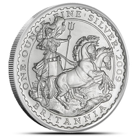 2009 1 oz Silver Britannia