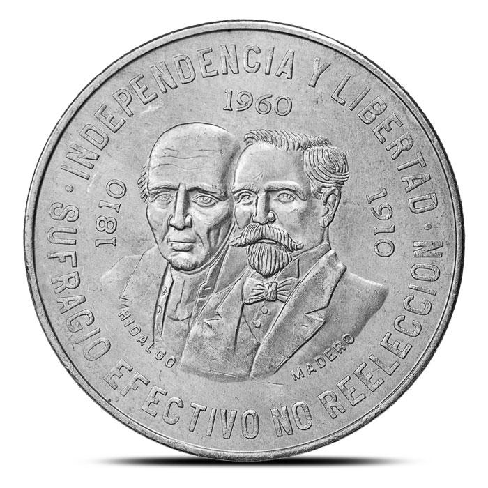 1960 Mexican Silver 10 Pesos Coin