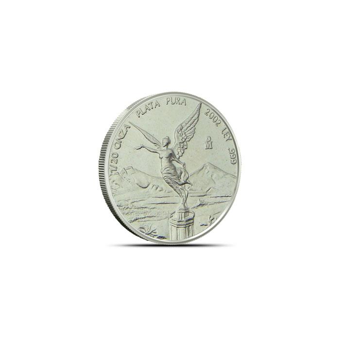 2002 1/20 oz Mexican Silver Libertad Obverse