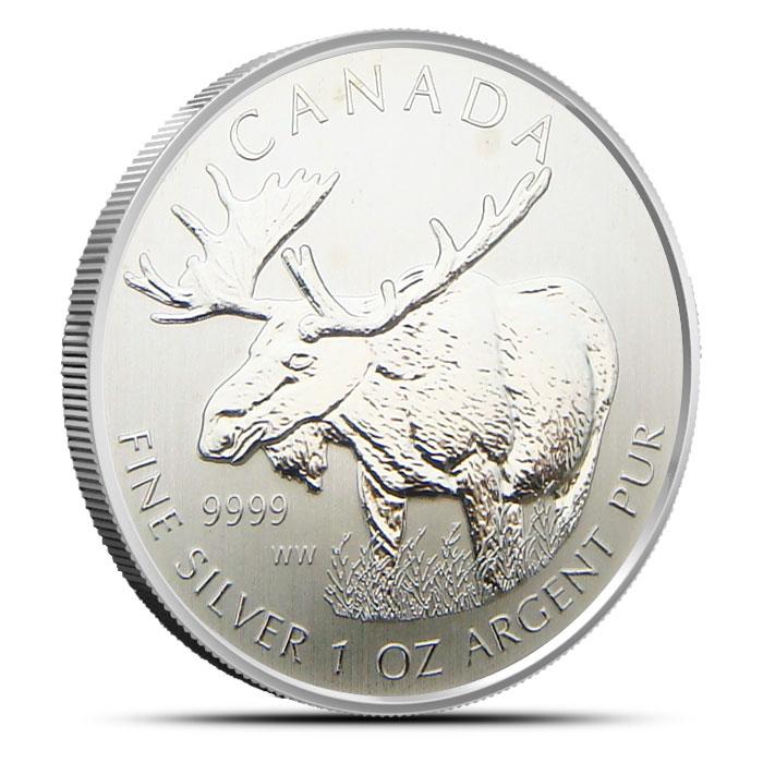 Off Quality Canada Moose 1 oz Silver