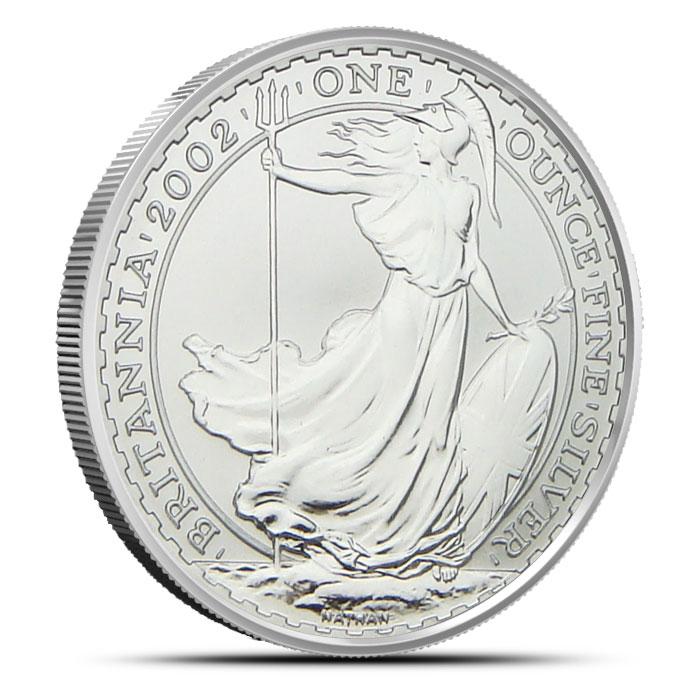 2002 Silver 1 Ounce Britannia