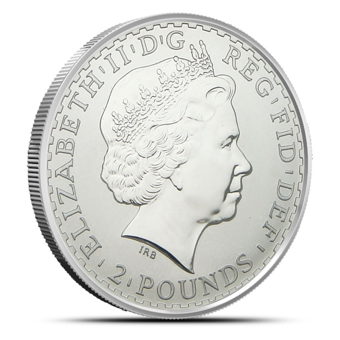 2002 1 oz Silver Britannia