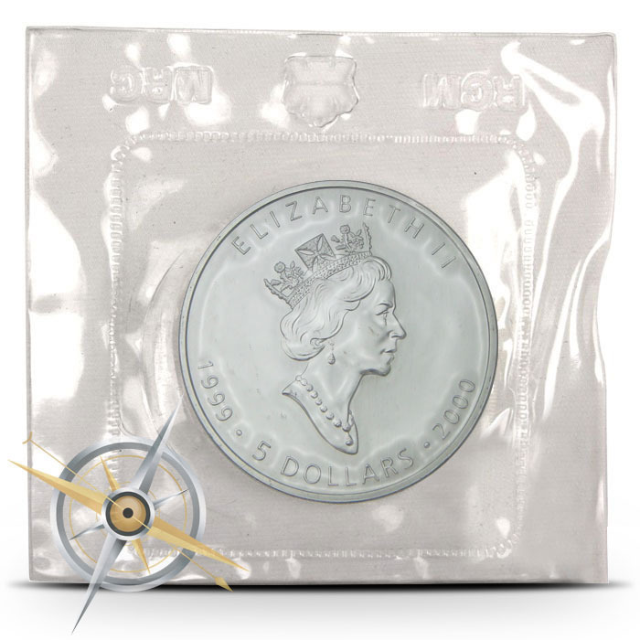 1999-2000 1 oz Canada Silver Maple Millennium Privy Obverse