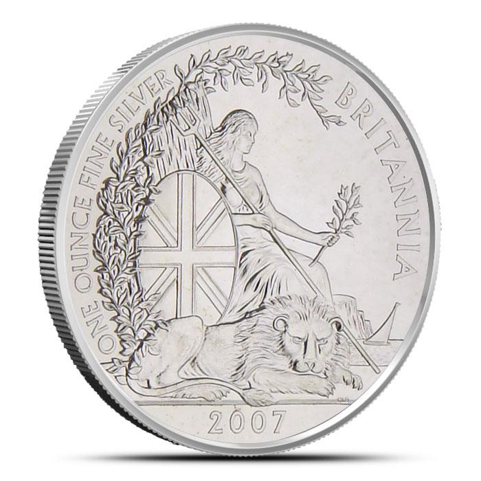 2007 1 oz Silver Britannia