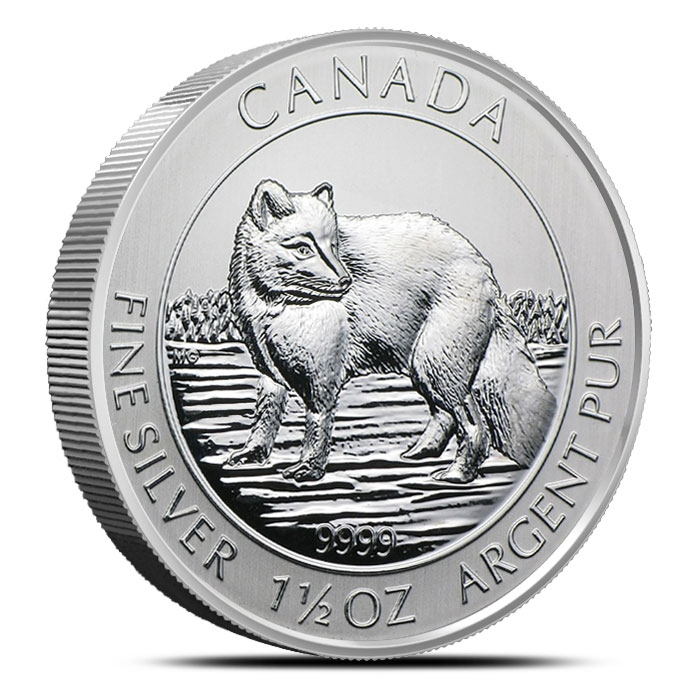 2014 1.5 oz Canadian Silver Arctic Fox