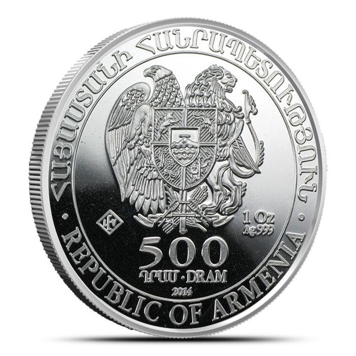 2014 Armenia 1 oz Silver Noah
