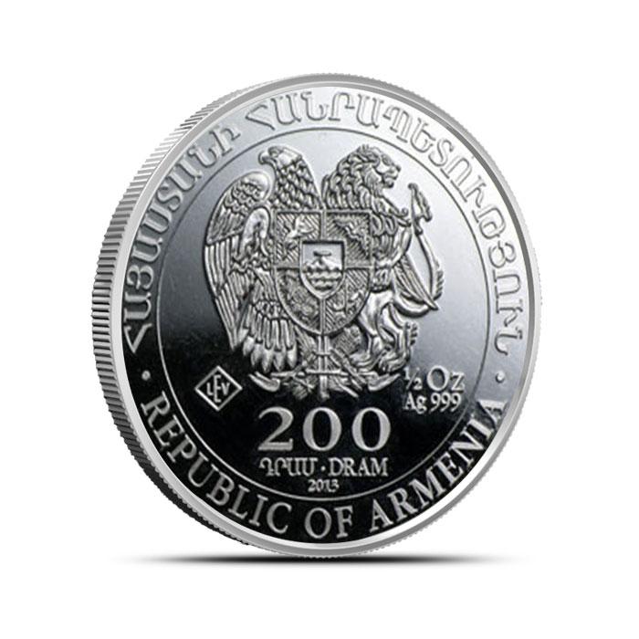 2014 Armenia 1/2 oz Silver Noah