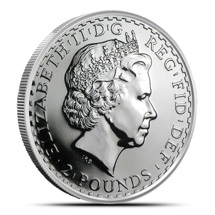 2008 1 ounce Silver Britannia Reverse