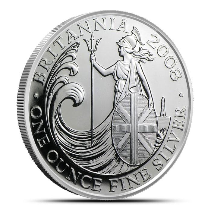 2008 1 oz Silver Britannia