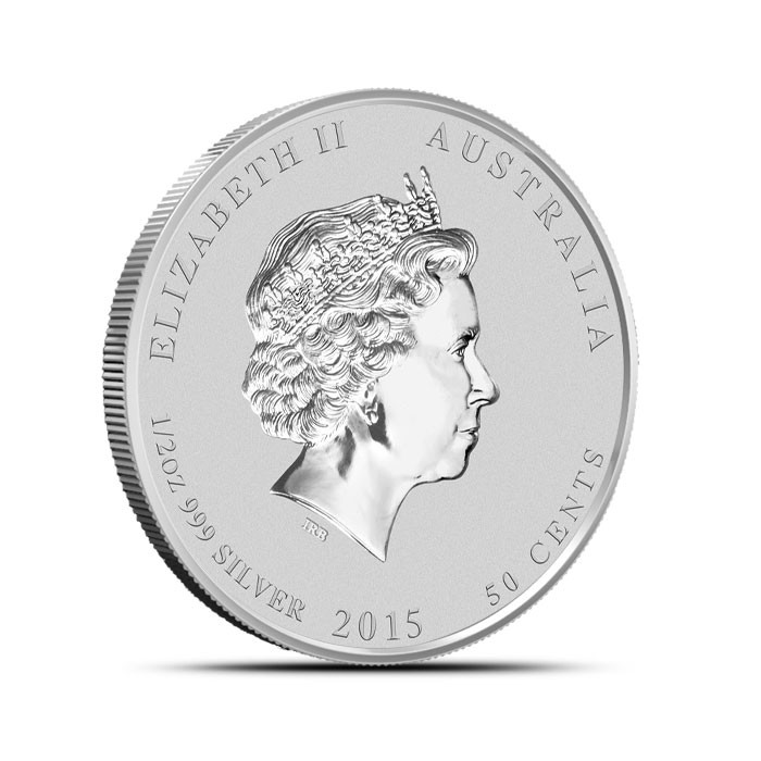 2015 1/2 oz Silver Australian Year of the Goat | Perth Mint Lunar Series 2 Reverse