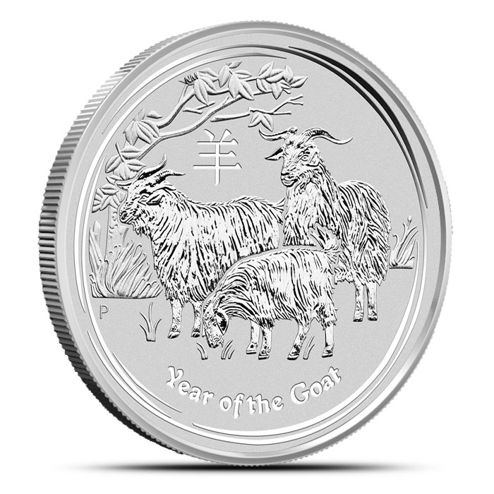 2015 Kilo (32.15 oz) Silver Australian Year of the Goat | Perth Mint Lunar Series 2