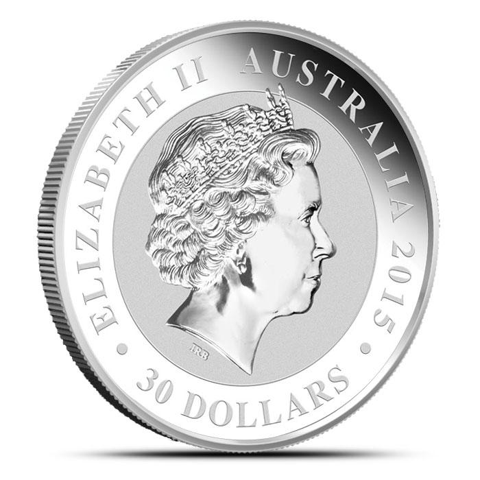 2015 1 Kilo (32.15 oz) Silver Kookaburra Reverse