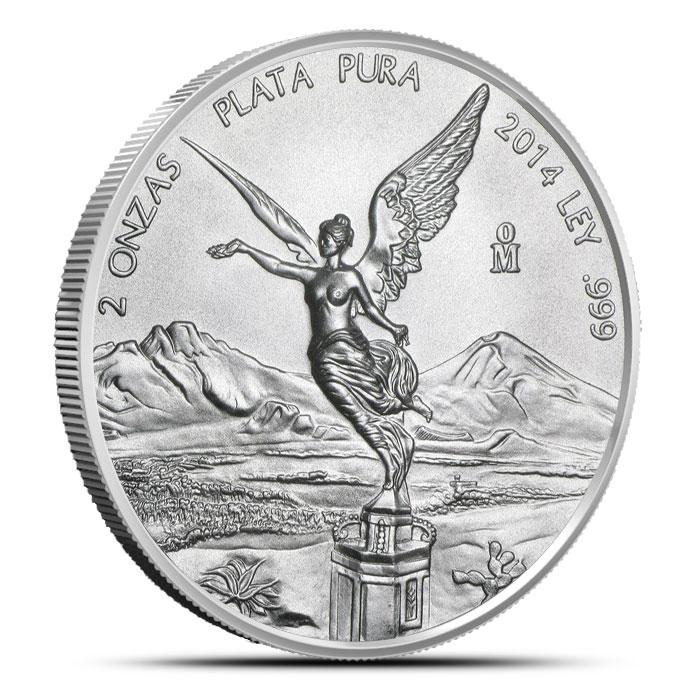 2014 Mexican Silver Libertad 2 oz Coin Obverse
