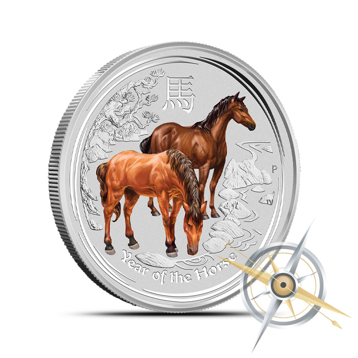 2014 1/2 oz Colorized Silver Year of the Horse Coin