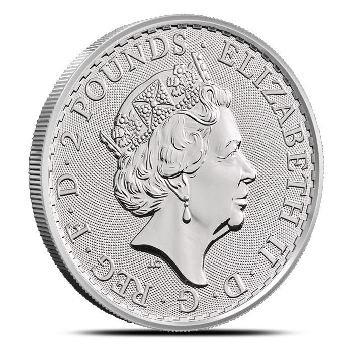 1 oz Silver Britannia Obverse