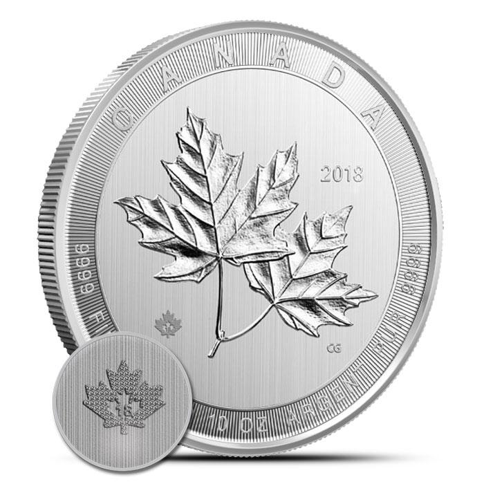 2018 Canada 10 oz Silver Magnificent Maple Leaf