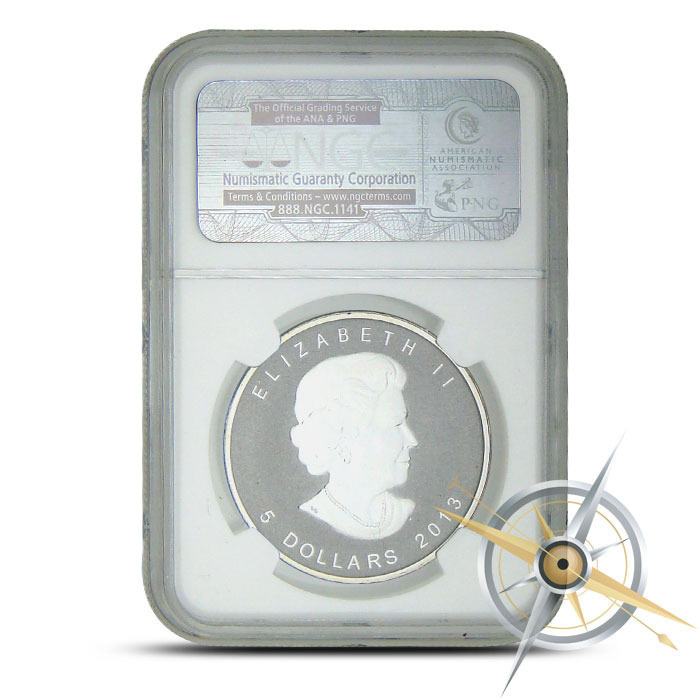 2013 Snake Privy Canadian Silver Maple NGC SP68 Obverse