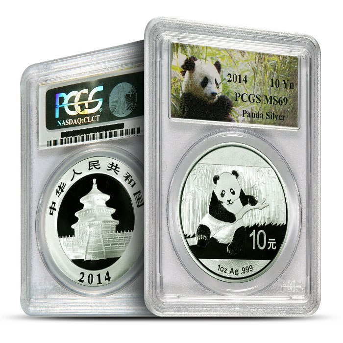 2014 1 oz Chinese Silver Panda | PCGS MS69