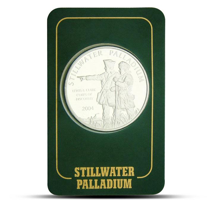 1 oz Lewis & Clark Stillwater Palladium Round