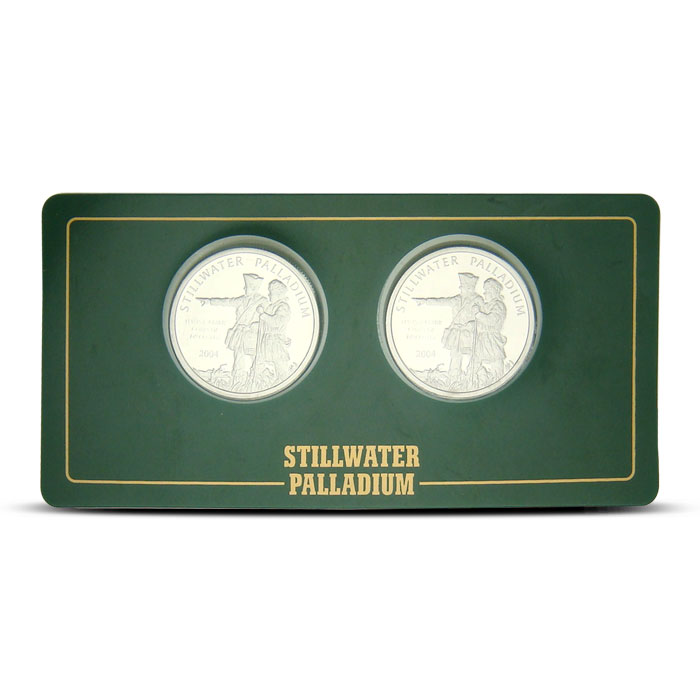 2 Half ounce JM Stillwater Palladium Rounds
