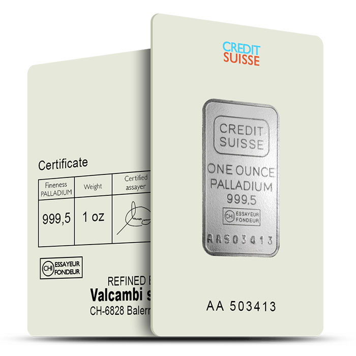 Credit Suisse | 1 oz Palladium Bar