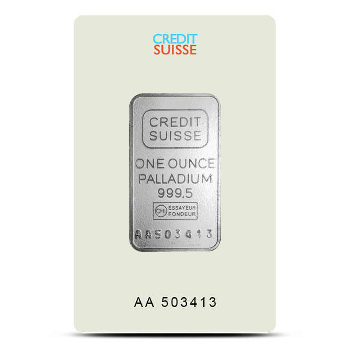 Credit Suisse | 1 oz Palladium Bar Front
