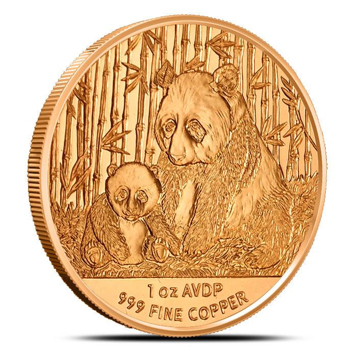 Copper Panda 1 oz Copper Round