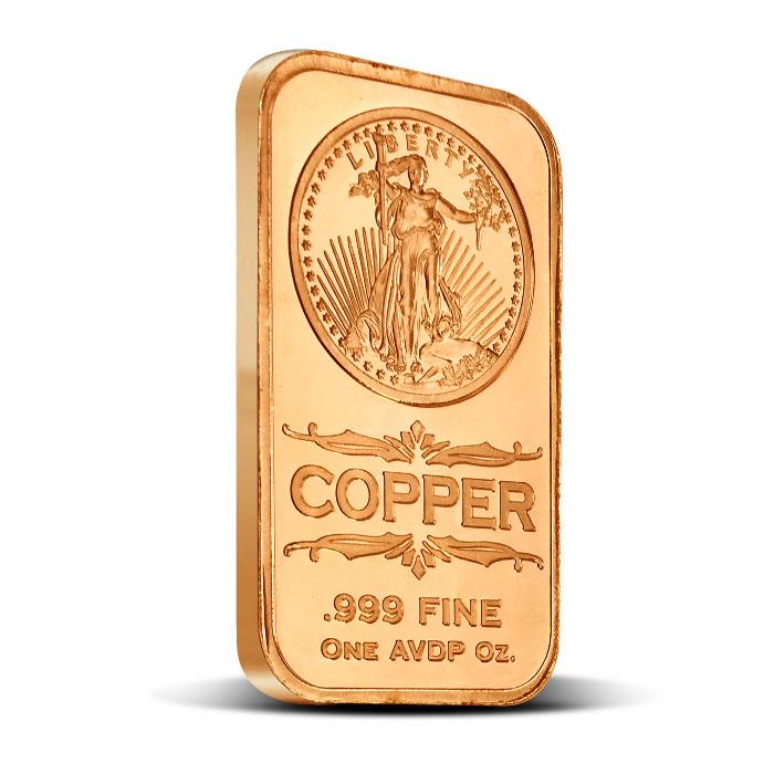 Saint Gaudens 1 oz Copper Bar | Osborne Mint