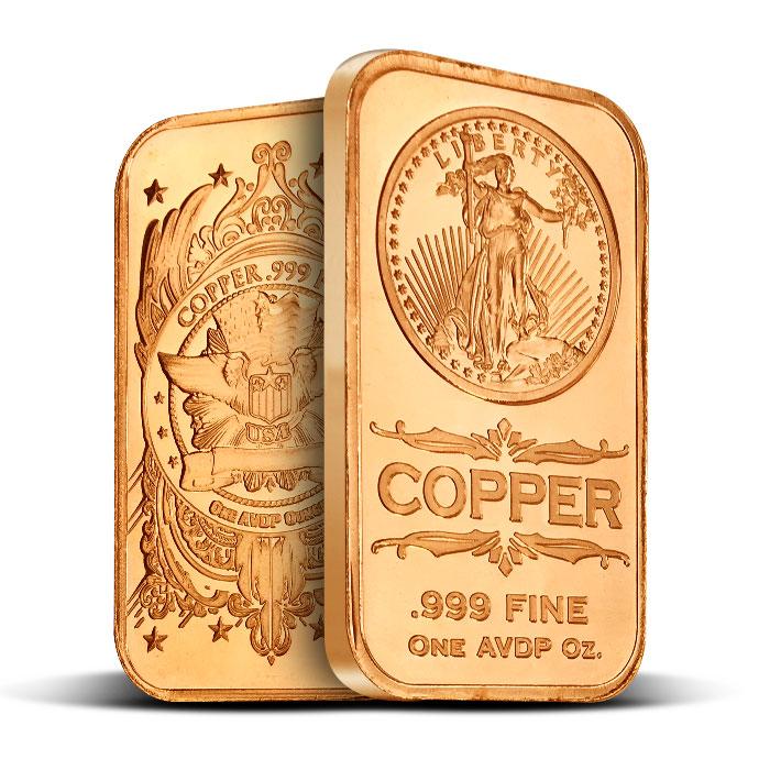 Saint Gaudens 1 oz Copper Bar