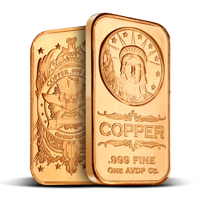 Statue of Liberty 1 oz Copper Bar