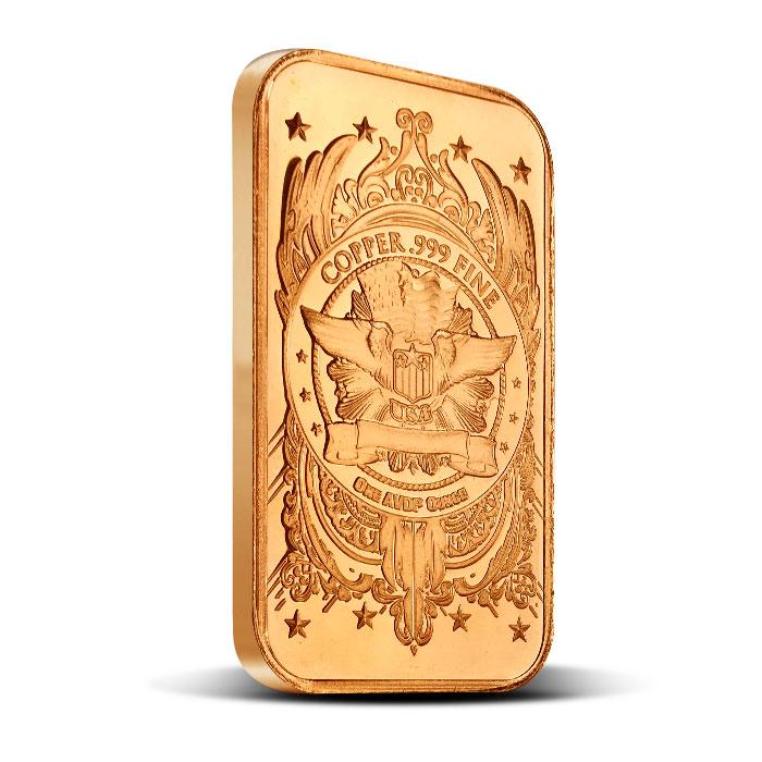 Morgan Dollar one ounce Copper Bar