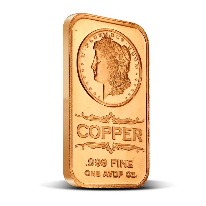 Morgan Dollar 1 oz Copper Bar | Osborne Mint