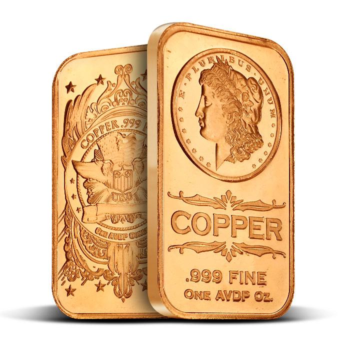 Morgan Dollar 1 oz Copper Bar