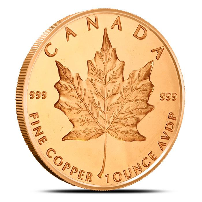 Maple Leaf 1 oz Copper Round