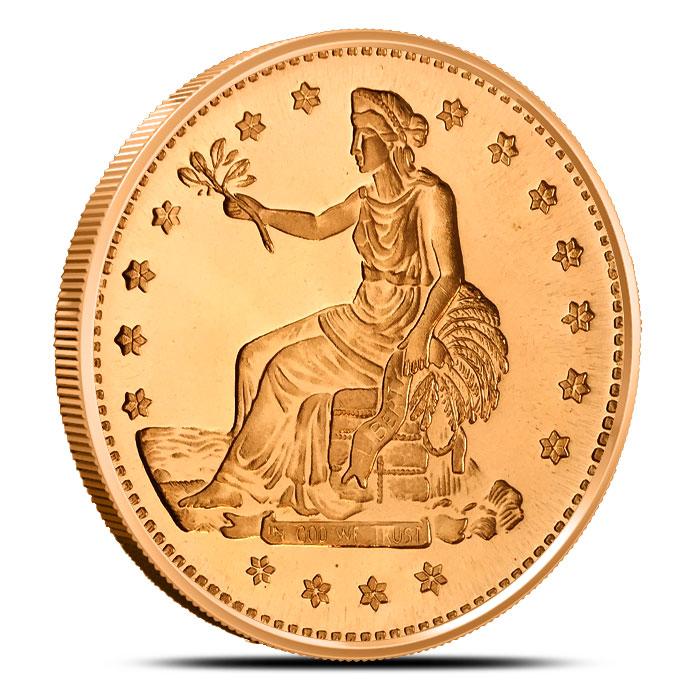 Trade Dollar 1 oz Copper Round