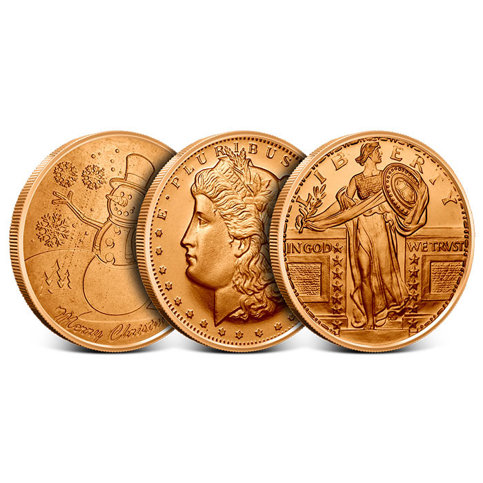 Our Choice 1 oz Copper Rounds