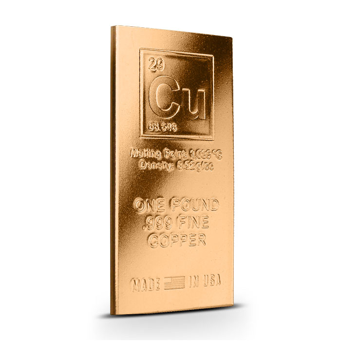 Elemental Cu 1 Pound Copper Bar