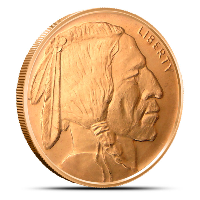 Buffalo 5 oz Copper Round Obverse