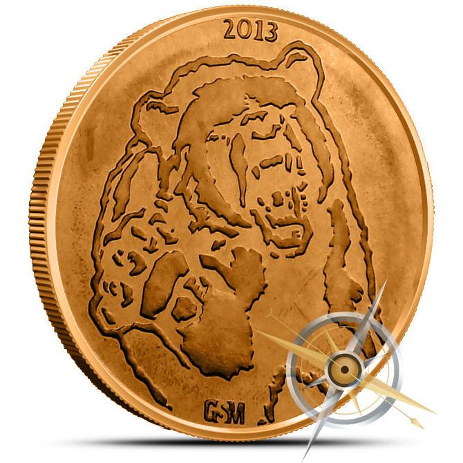 5 ounce Bull & Bear Copper Round