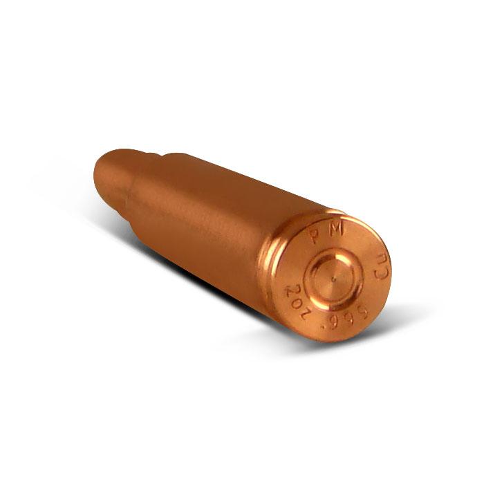 2 oz Copper Bullet | End View