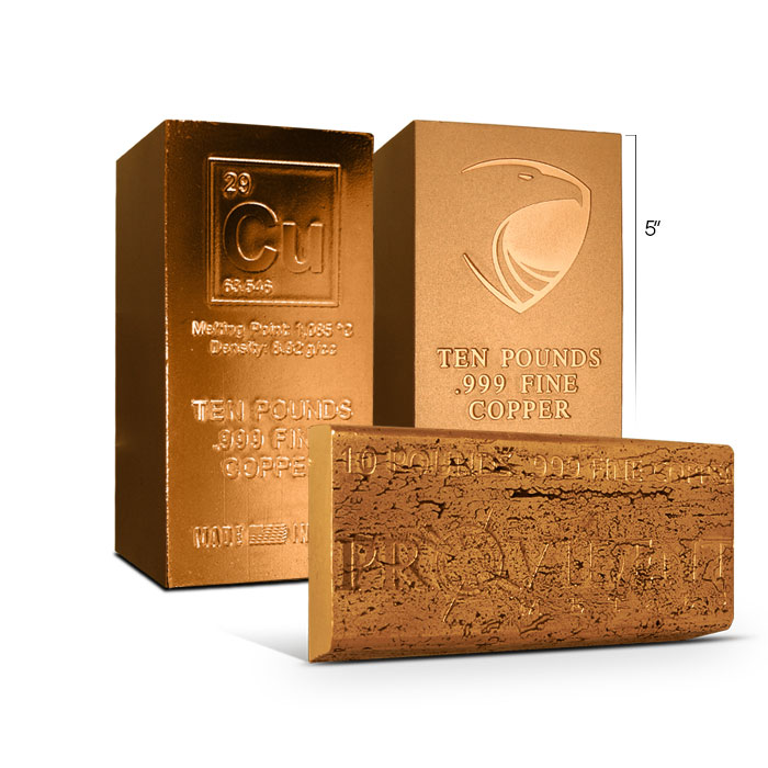10 pound Copper Bar   Our Choice Design