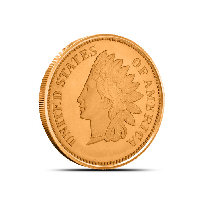 Indian Penny 1/4 oz Copper Round