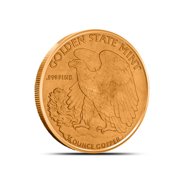 Walking Liberty Fourth Ounce Copper Round Reverse