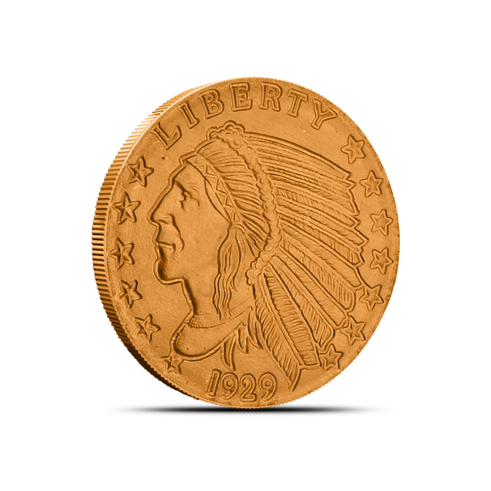 Incuse Indian 1/4 oz Copper Round Obverse