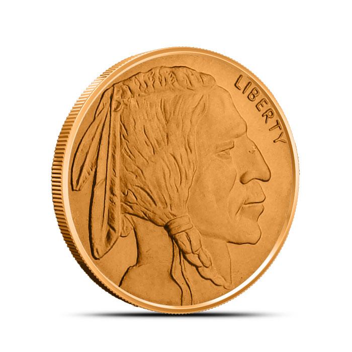 Buffalo Nickel 1/2 oz Copper Round Obverse