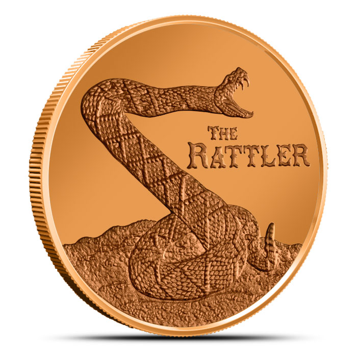 The Rattler 1 oz Copper Round