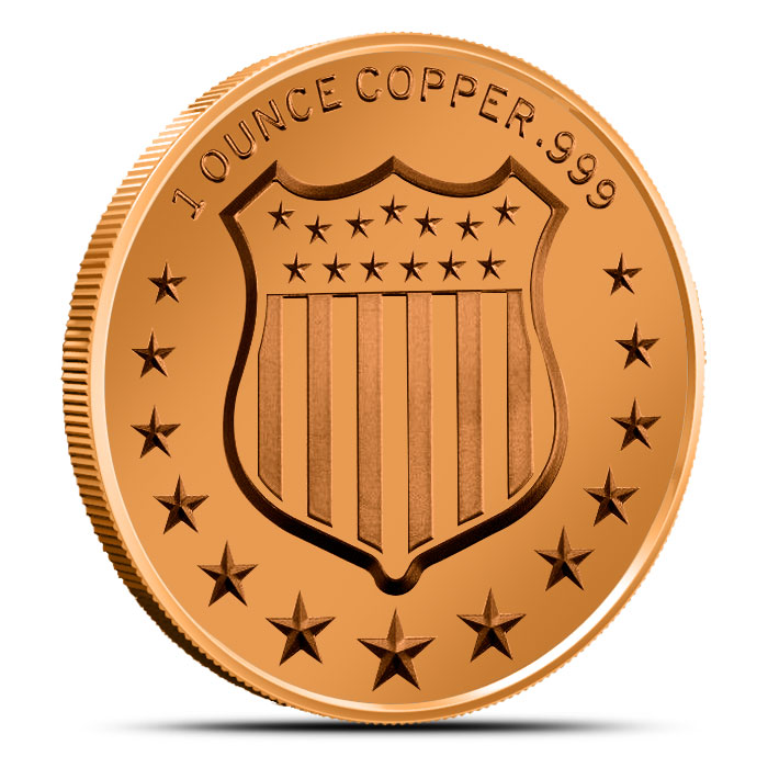 The American Bison 1 oz Copper Round Reverse